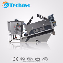 Small oil dewatering screw press