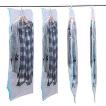 hanging transparent vacuum bag for clothing 105*70cm