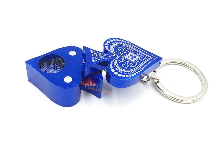 T319PM LVHE Poker Card Shape Fashion Portable Smoking Pipe