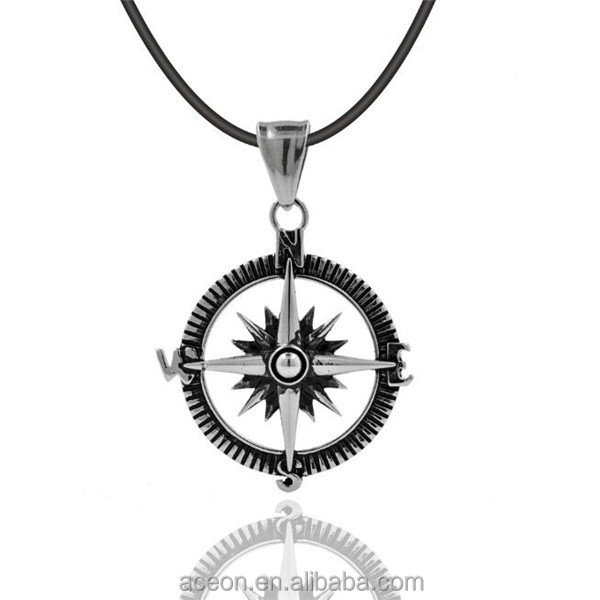 Yiwu Aceon Mens Custom Punk Cool Design Vogue Refined naval compass Pendant