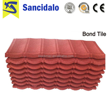 China cheap antique stone coated metal roofing tile with long life