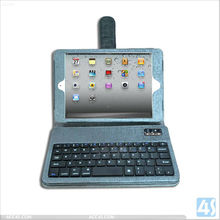 Bluetooth Keyboard Leather Case with Buckle for iPad Mini P-iPDMINICASE119