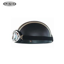 Cheap price Leather motorcycle helmets ECE approved half face helmet motorbike