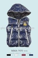 Glo-story padded vest coat for men