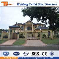 2016 New Modern steel structure Prefabricated villa