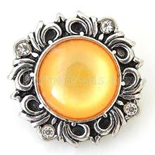 KB6458 Custom Full Crystal Wholesale Ginger Snap Button Jewelry