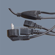 Eruo market vde approval Y-type IEC C14/2 x IEC C13 ac Power Cords