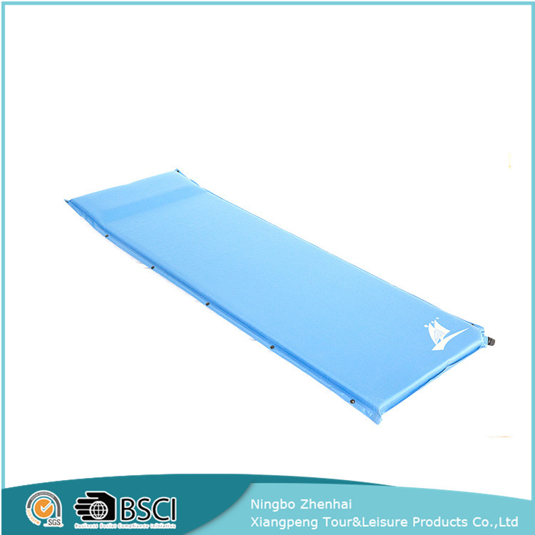 durable inflatable thicken outdoor floor mat, foam camping sleeping pad, sleeping pad with pillow
