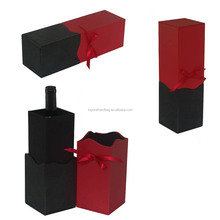 Custom Single Bottle Leather PU Classical Wine Storage Gift Box