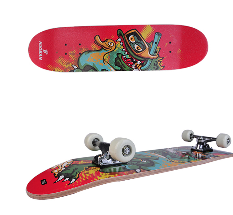Customized New fashion 4 Wheel Maple Skateboard
