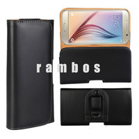Mobile Phone Cases Horizontal Belt Clip Holster PU Leather Pouch Cover for Samsung galaxy S6 Edge