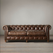vintage genuine leather classic sofa violino leather sofa
