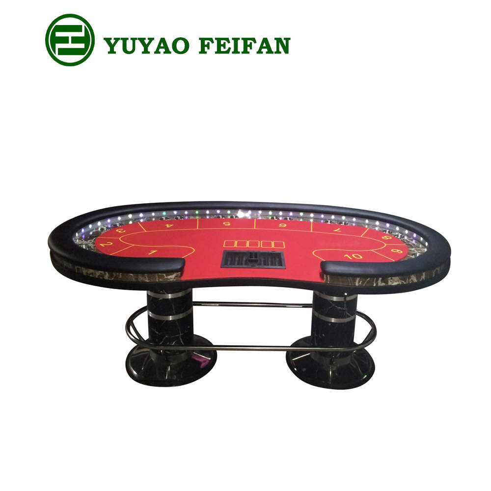 Factory direct supplyTexas Holdem poker table,high quality poker table with LED light