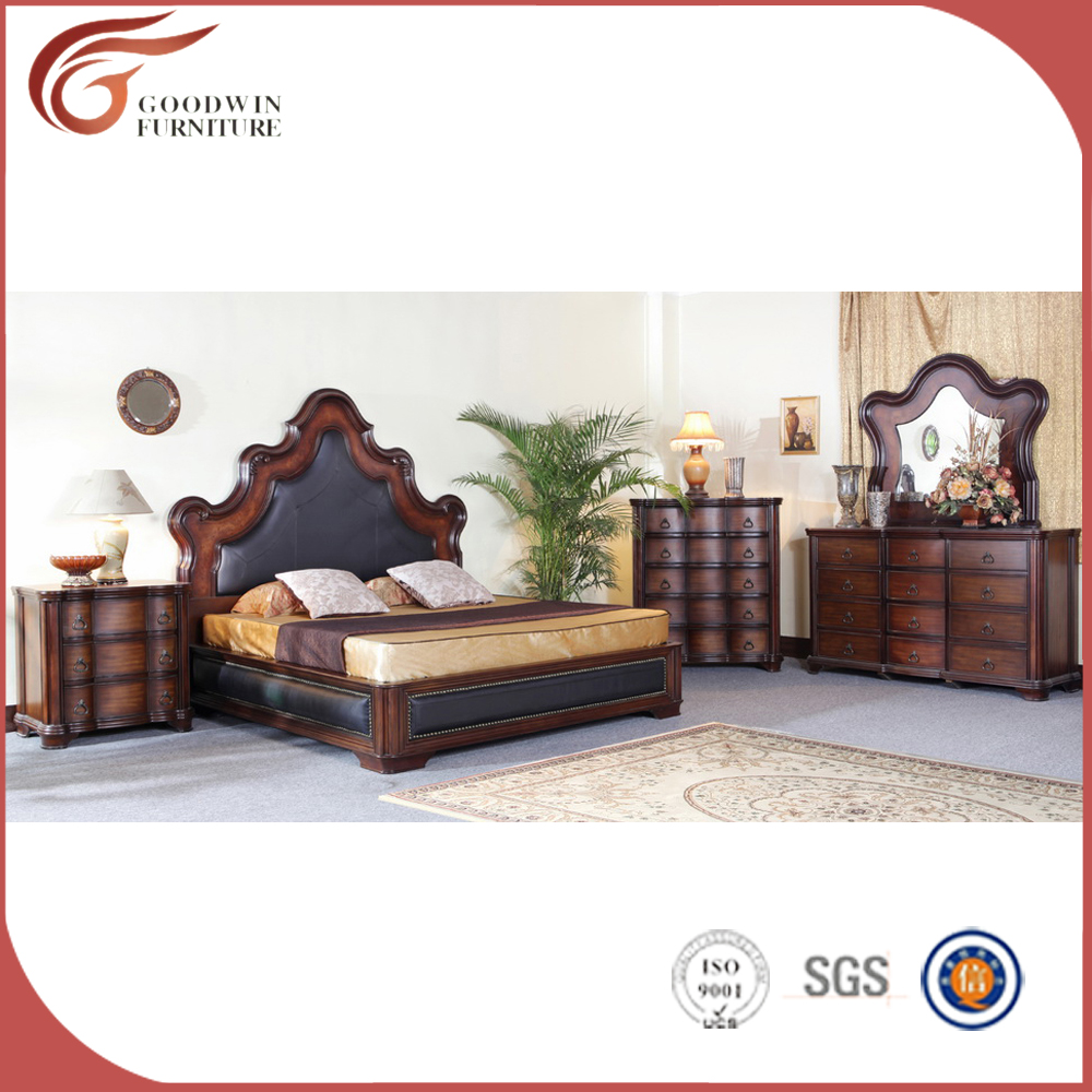 2016 Latest Design Luxury European <strong>style</strong> bedroom <strong>Furniture</strong> sets Customized king size bed WA134