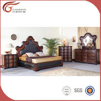 2016 Latest Design Luxury European style bedroom Furniture sets Customized king size bed WA134