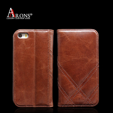 Standing genuine leather phone case for iphone 5 5s 5se