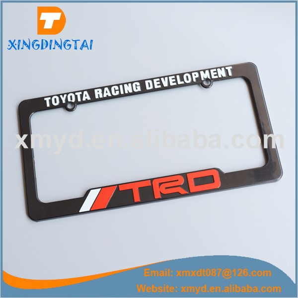 Custom License Plate Frame For US Cars With Embossed Logo Text