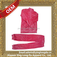 Excellent quality latest black velour jogging suits