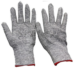 NMSAFETY HPPE Cut Resistant Liner Gloves Knitted Finger Gloves HPPE Protection Gloves