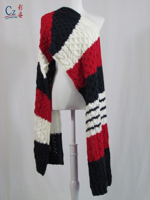 long knitted scarf hot selling fashion ladies