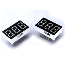 China top quality 0.40 inch Pure Blue display 7 segmentos anodo 3 digit seven segment led display for digital counter display