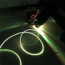 led 5mm 4mm 3mm fiber optic side glow cable
