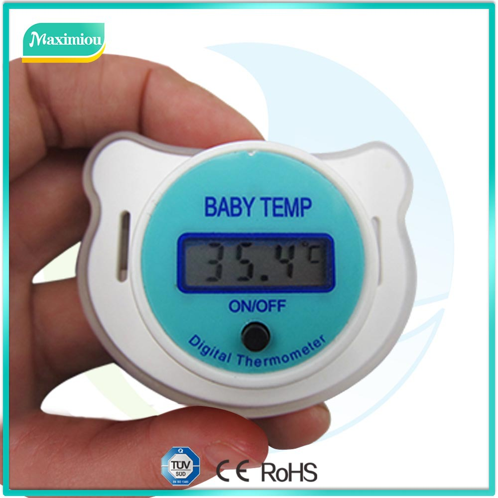Digital pacifier thermometer with all hygrometer enviroment used