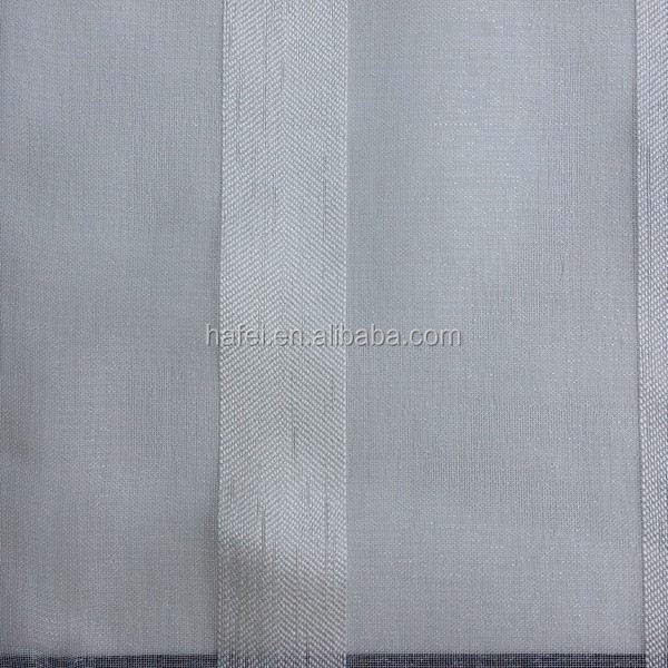 Hotel 100% polyester fabric organdy fabric with embroidery