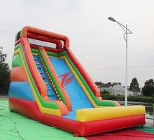 Commercial Grade Giant Rainbow Dry inflatable slide for sale