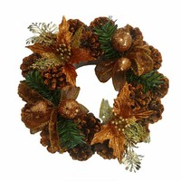 9 inches artificial christmas wreath / garland