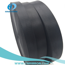 "1"" black nylon herringbone webbing thin and thick kind using for bag belt and tent"