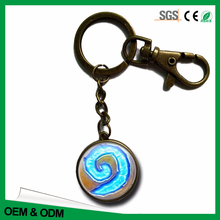 Hot game horde custom metal keychain round shaped keyring