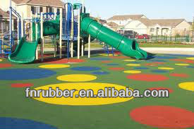 2013 new technology rubber playground cover