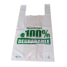 Recycle folding plastic shopping 100% biodegradable bag