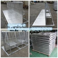 hot dip galvanized portable heavy duty crowd control barrier ( iso factory )