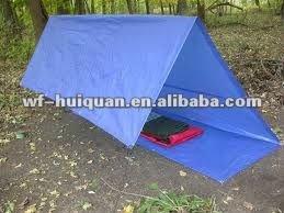 blue camping poly tarp