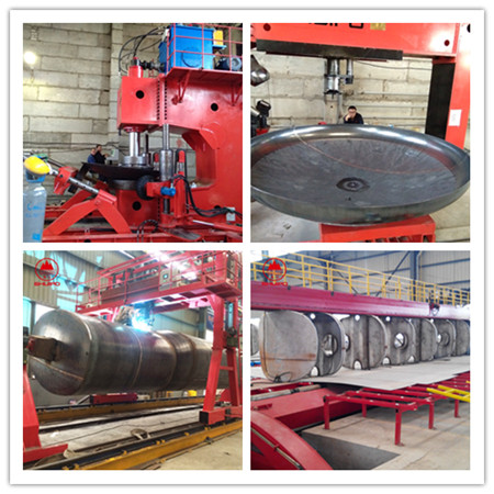 SHUIPO Hydraulic Press  Bulk tank dish head Flange Spinning Machine dished end flanging machine