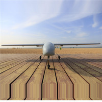 3U-80473 Mini Skyeye 2.6m UAV T tail platform carbon fiber Tail Suit Requirement 30-35cc engine RC Airplane Kit Plane