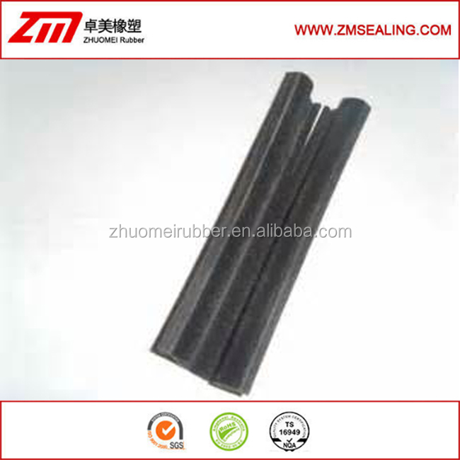 extruded EPDM flocked seal, glass rubber