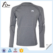 Gray Color Shirts Dry Fit Men Custom Fitness Clothes
