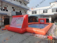 Great fun CE commercial durable inflatable football court PVC games