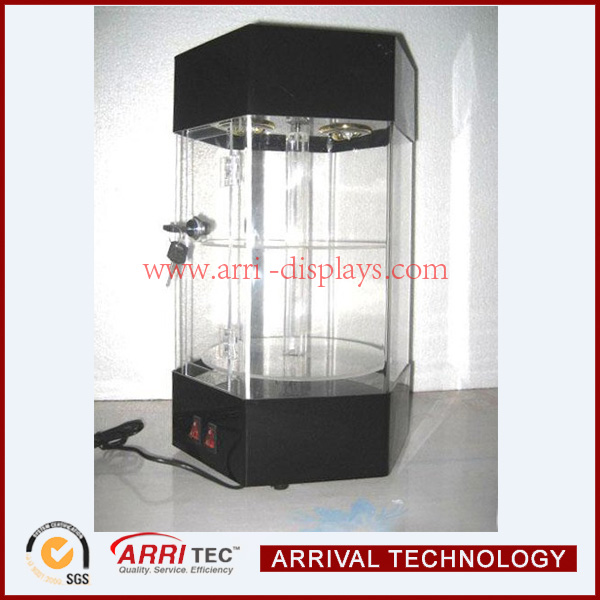 new special rotating LED acrylic jewelry display with led light for jewelry