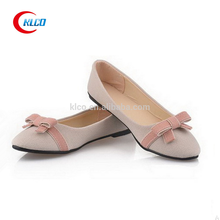 Cheap 2015 ladies casual fashion bow flat loafers ballet pointe shoes