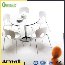 Amywell Wholesale price wooden color waterproof HPL coffee tabletop
