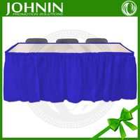 Royal Blue Table Skirt For Wedding Ice Silk Fabric