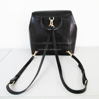 fashion pu and genuine leather shoulder bag women one or two sides