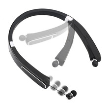 Wireless Bluetooth 4.1 Headset Retractable and Foldable Neckband Style Headphones Bluetooth Earphone