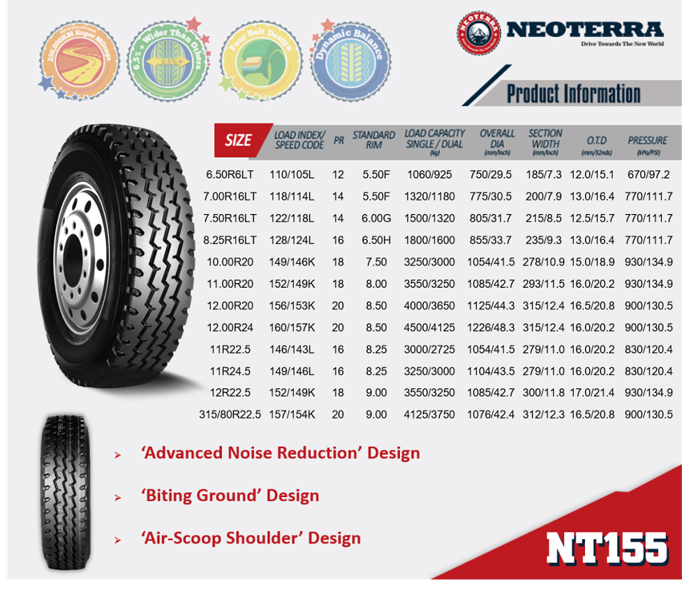 2017 Neoterra Brand Top Quality Wholesale Tire Distributor In China
