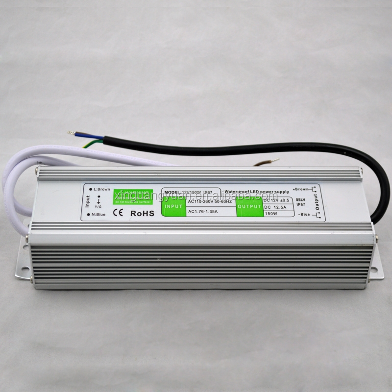 Aluminum housing 110v or 220v 150W waterproof switching power supply