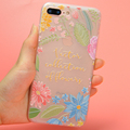 DFIFAN Custom Floral Cover for iphone 7 plus Soft Protective TPU Phone Case for iPhone 7, for iphone 8 plus Case
